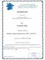 Certyfikaty - Anna Jarząbek