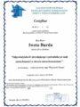 Certyfikaty - Iweta Burda