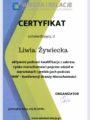 Certyfikat - Liwia Żywiecka